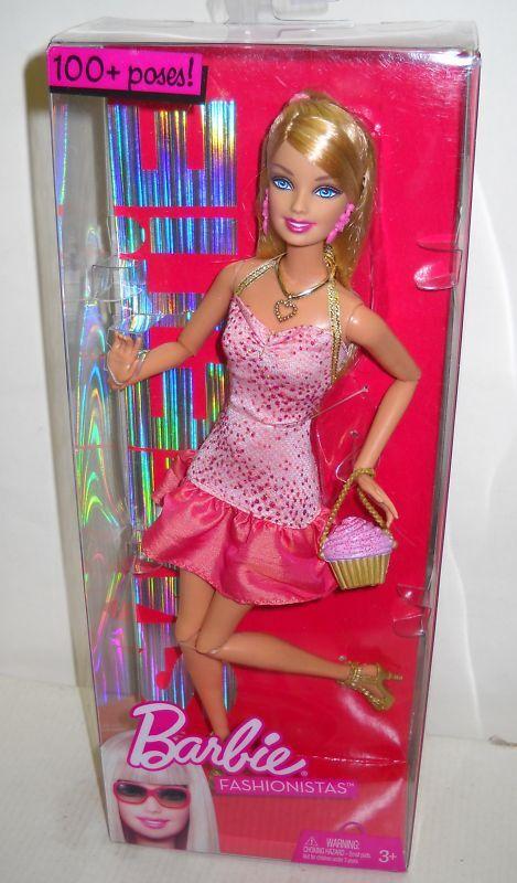 Nrfb Mattel Barbie Muñeca Fashionistas Muñeca