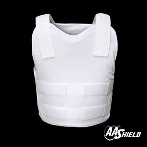 AA Shield Bulletproof VIP Vest Concealable Aramid Body Armor Lvl IIIA3A  L White