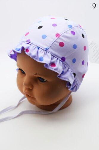 Baby Girls Hat Summer Beanie Tie Up Cap Sun Protection Bonnet Beach Hat