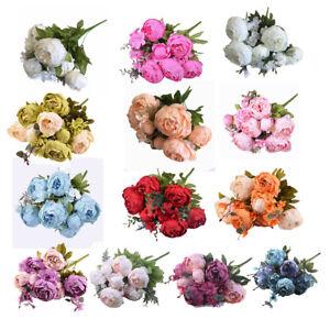 Vintage-Peony-Bridal-Silk-Flower-Wedding-Decor-Bride-Bridesmaid-Bouquet