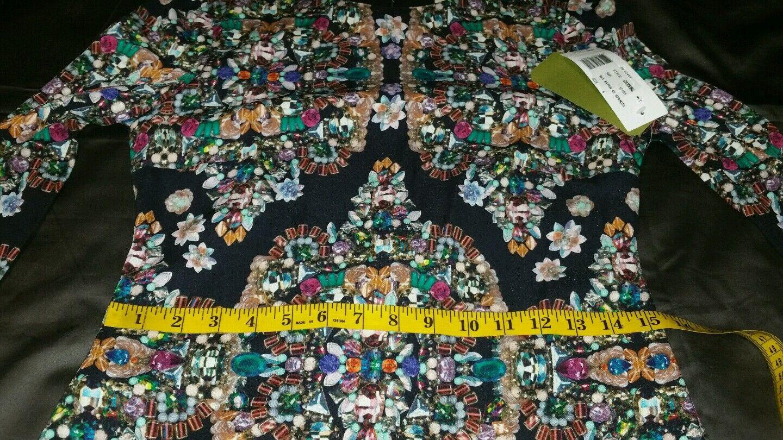 310 NwDt Nicole Miller Artelier Artelier Artelier Multi Bejeweled Luxuriant  Dress 6 38a04b