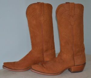 f6e3c9df949 Details about Lucchese Classics Women Cowboy Boot Rust Suede 10 B USA  Western