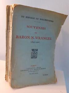 1926 Ricordi Del Baron N.Wrangel (1847-1920) Plon-Feed Parigi Spilla ABE