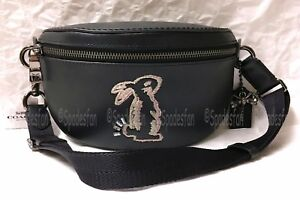405be8bfd1f2d Coach x Selena Gomez 39316 Bunny Belt Bag Fanny Sling Pack BLACK ...