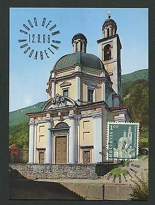 Architektur Unter Der Voraussetzung Schweiz Mk 1968 884 Kirche Riva San Vitale Maximumkarte Maximum Card Mc Cm D1398