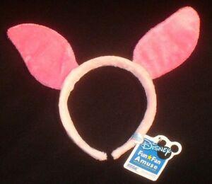 NWT Disney Piglet Pooh Character Headband with ears Halloween Costume Pig Bunny