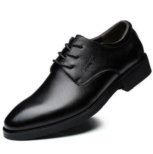 Genuine Leather Men Dress Formal Work Oxfords British Style Lace Up Shoes Casual