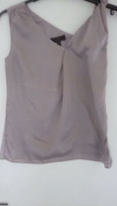 c5686fda6297c Pure Silk BR Dusty Pink Lilac Formal Sleeveless Top szXS. Pure Class!
