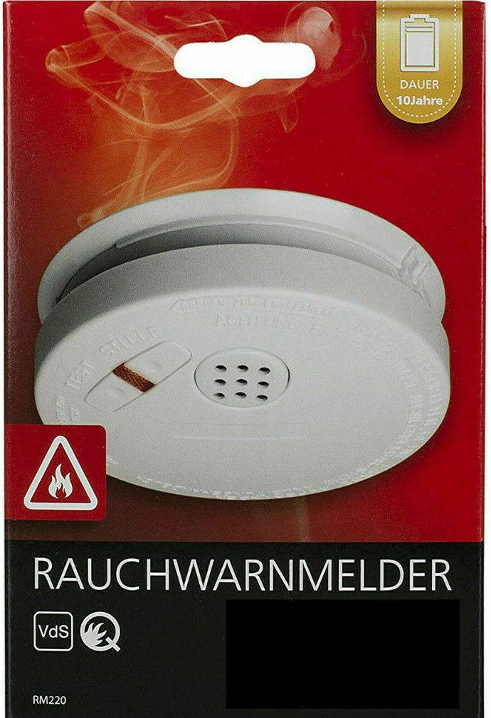 BatterienFeuermelder Rauchwarnmelder Brandmelder 10er Set Rauchmelder inkl