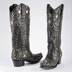 COWGIRL-DOUBLE-D-RANCHWEAR-BLACK-SILVER-TRADER-BOOTS-BY-LANE-DD9030A