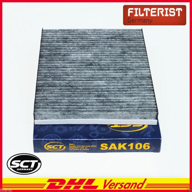 10x Innenraum-// Aktivkohlefilter SAK 106 von SCT Germany