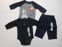 Baby Boys Outfits Sports Boys Football Creepers Boys Pants Basketball 3 Pc 0-3mo