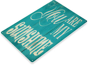 TIN-SIGN-My-Sunshine-Blue-Beach-House-Cottage-Farm-Rustic-Decor-Kitchen-A999