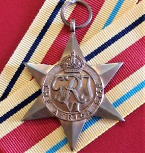 VINTAGE-WW2-THE-AFRICA-STAR-AUSTRALIA-BRITISH-WAR-MEDAL-100-ORIGINAL-ANZAC