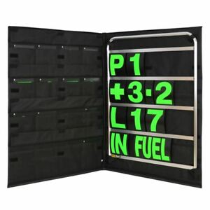BG-Racing-Standard-Size-4-Row-Pit-Board-Kit-Pit-Board-Green-Numbers-Bag