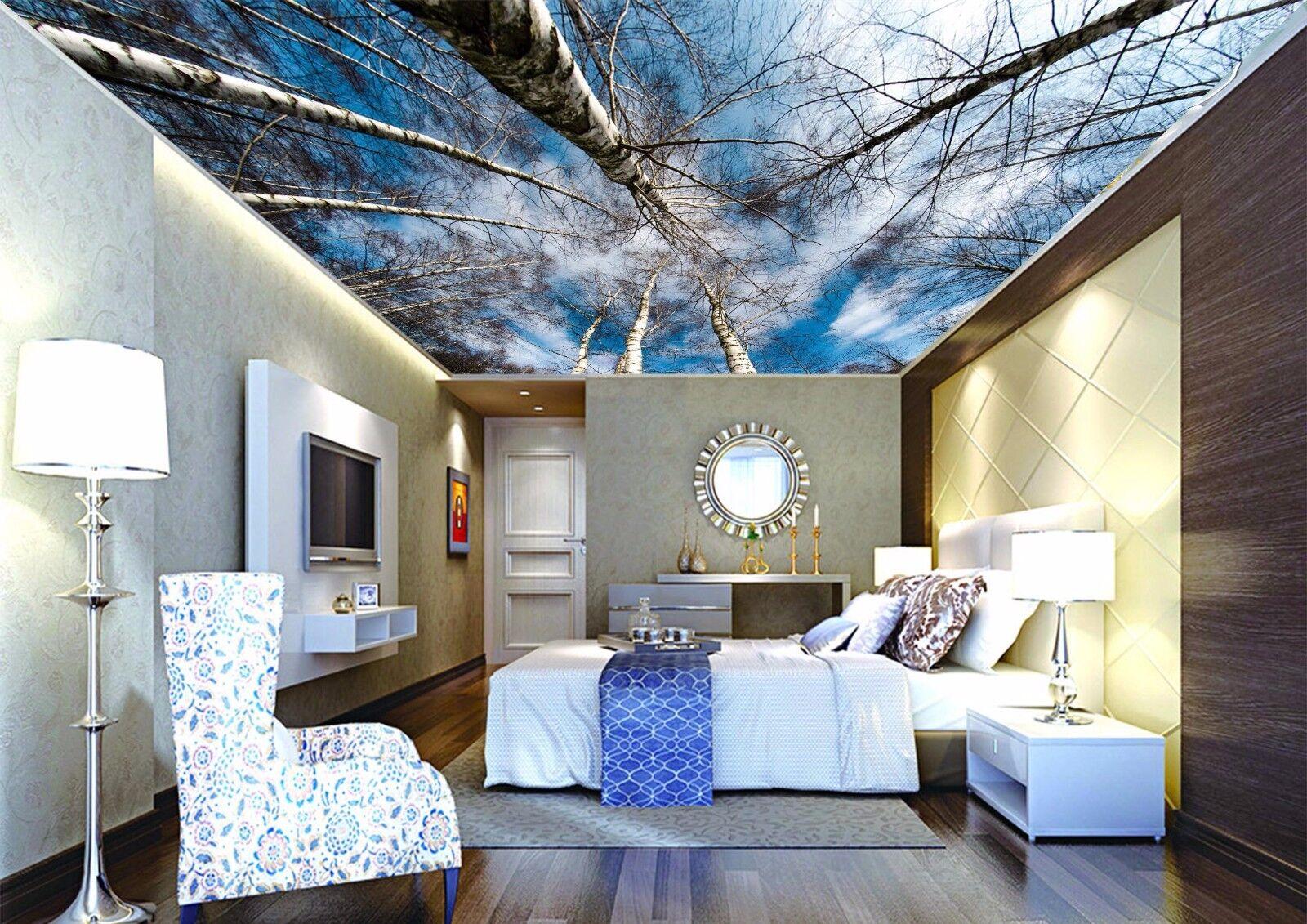 3D Sky Woods 54 Ceiling WallPaper Murals Wall Print Decal Deco AJ WALLPAPER UK