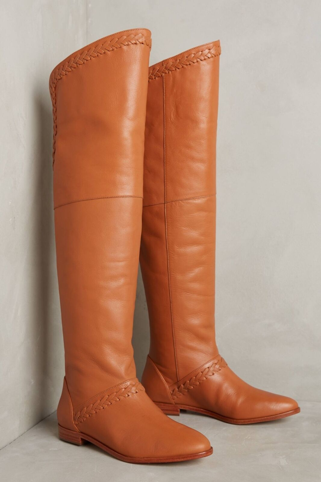 NIB  368.00 Anthropologie Candela Braided Riding Boot Boot Boot 7.5  Honey  6d6f92