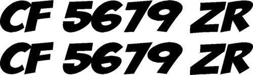 "x2 custom ez BOAT REGISTRATION NUMBERS 23/""X3/"" VINYL Decal Sticker PICK COLOR!"
