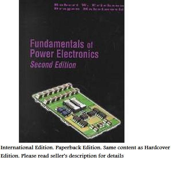 Fundamentals Of Power Electronics By Dragan Maksimovic And Robert W