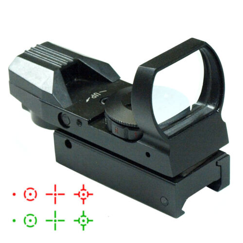 Hunting Tactical 20mm//11mm Holographic 1x22x33 Reflex Red Green Dot Sight Scope