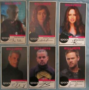 Killjoys-Cast-Original-Autograph-Signed-Photo-Cards-Aaron-Ashmore-Fan-Expo