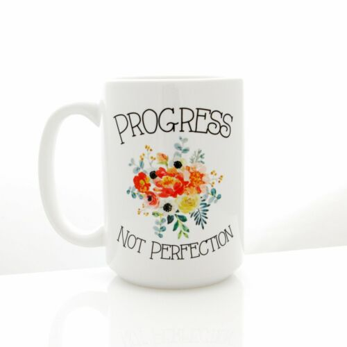 Progress Not Perfection Mug For Goals And Recovery Motivational Gifts Mug