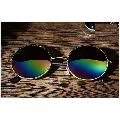 Vintage Men Women Round Mirrored Sunglasses Eyewear Outdoor Sports Glasses >P