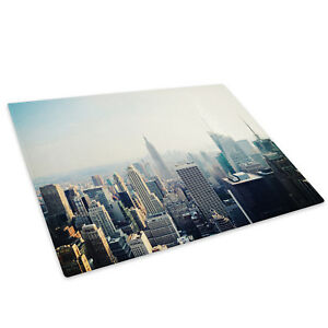 City Night New York Retro Glass Chopping Board Kitchen Worktop Saver Protector