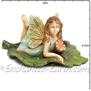 Nuevo-Miniatura-Rustico-Jardin-De-Hadas-Fairy-Bonito-Hoja-3-cm-alto-8-largo