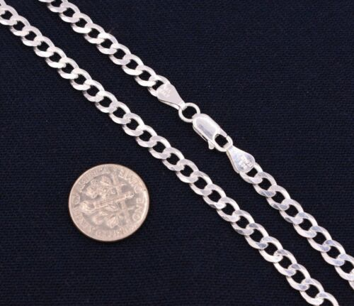 5mm Italian Miami Cuban Curb Link Chain Necklace Real Sterling Silver 925
