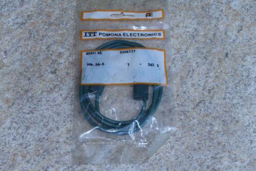 ITT Pomona Electronics HB-36-5 Horizontal Stacking Banana Plug Patch Cord