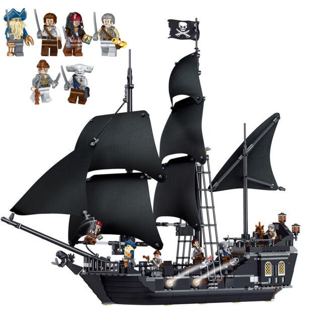 Caribbean Pirate Ship Building Blocks Black Pearl
