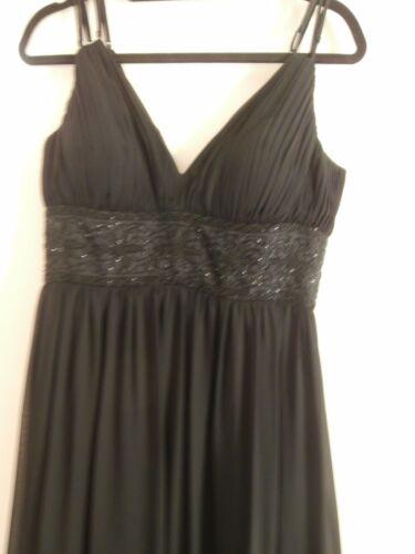pour soie femmes Robe 10 de taille Oc By en noire soirée 8I0rAqI
