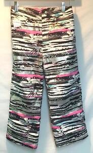 99cc84d4a Obermeyer Kids Girls Genie Snow Ski Pant Pink Black White Silver ...