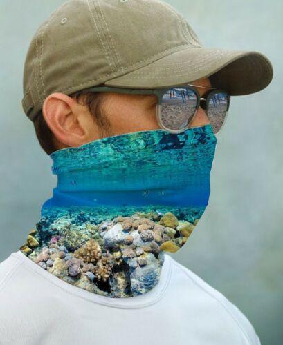UV Protecter Underwater Life Ocean Face Neck SUN GAITER Mask Bandana UPF 50