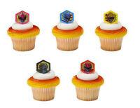 Power Rangers Morphinominal Cupcake Rings (24) Favor Cake Topper 2 Doz
