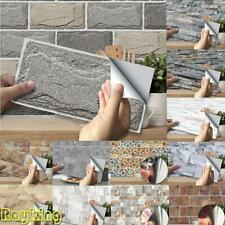 90Pcs Self-adhesive 3D Tiles Wall Brick Stickers Kit KitchenBathroom MosaicDecal