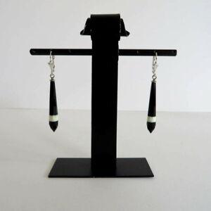 Paar-schwarz-weiss-schwarze-Glasohrringe-Earrings-30er-Jahre-Boehmen-ART-DECO