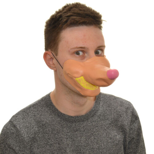 Half Face Goofy Dog Funny Fancy Dress Latex Mask For Kids /& Adults Halloween