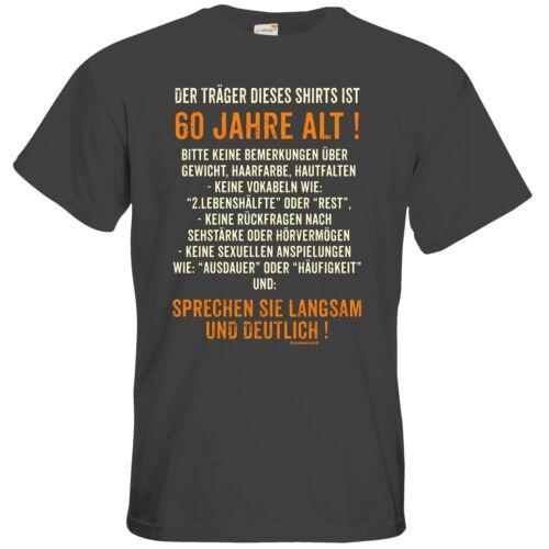 Getshirts-rahmenlos ® cadeaux-t-shirt-traeger ce shirts est 60 an...