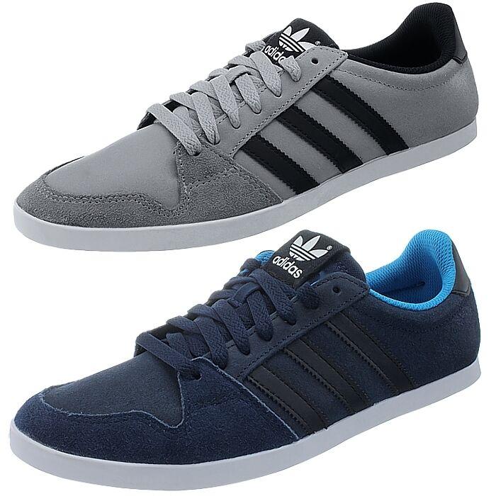 Adidas adilago low hombres casual gris o azul lowtop cortos de gamuza