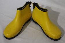 SOREL Yellow Waterproof Rubber Ankle Boots, Womens Size 7 B26