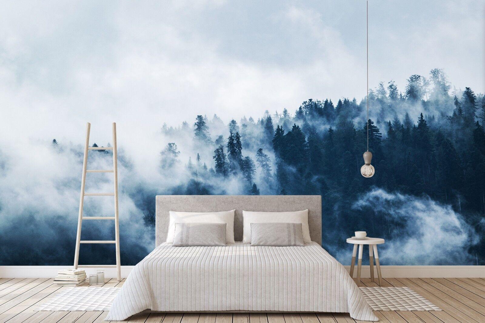 3D Blau Forest  7094 Wall Paper Murals Wall Print Wall Wallpaper Mural AU Summer