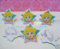 Princess Peach Cupcake Toppers Rings 24 Count
