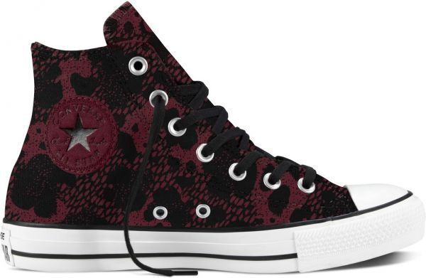 Converse Chuck All star Chaussures baskets Hi Baskets Bordeaux animal