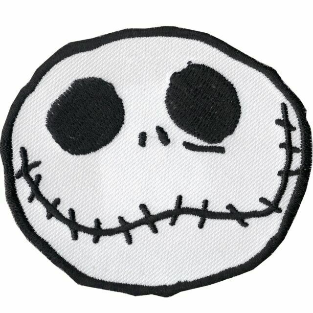 Nightmare Before Christmas Jack Face Embroidered Iron On Patch Set of 3