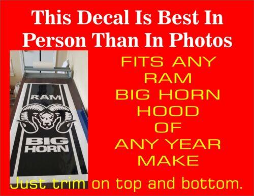 RAM 1500 BIG HORN 2500 BIG HORN Crew Cab Mega Cab Edition Hood Decal Stripes NEW