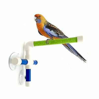 Actief Portable Suction Cup Bird Window And Shower Perch Toy For Bird Parrot Macaw