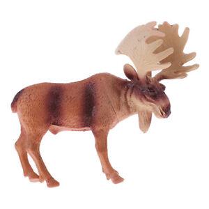 MagiDeal Wild Animals Figure North America Elk Moose Animals Model Ornaments