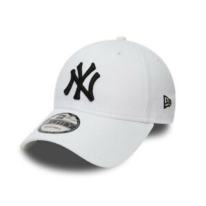 93e0878b7 New Era 9FORTY MLB New York Yankees NY Logo White Curved Peak Hat ...